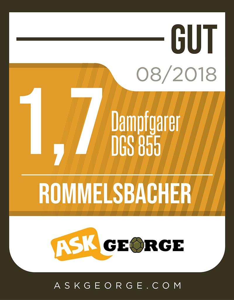 DAMPFGARER DGS 855 - Produkte von A bis Z - ROMMELSBACHER
