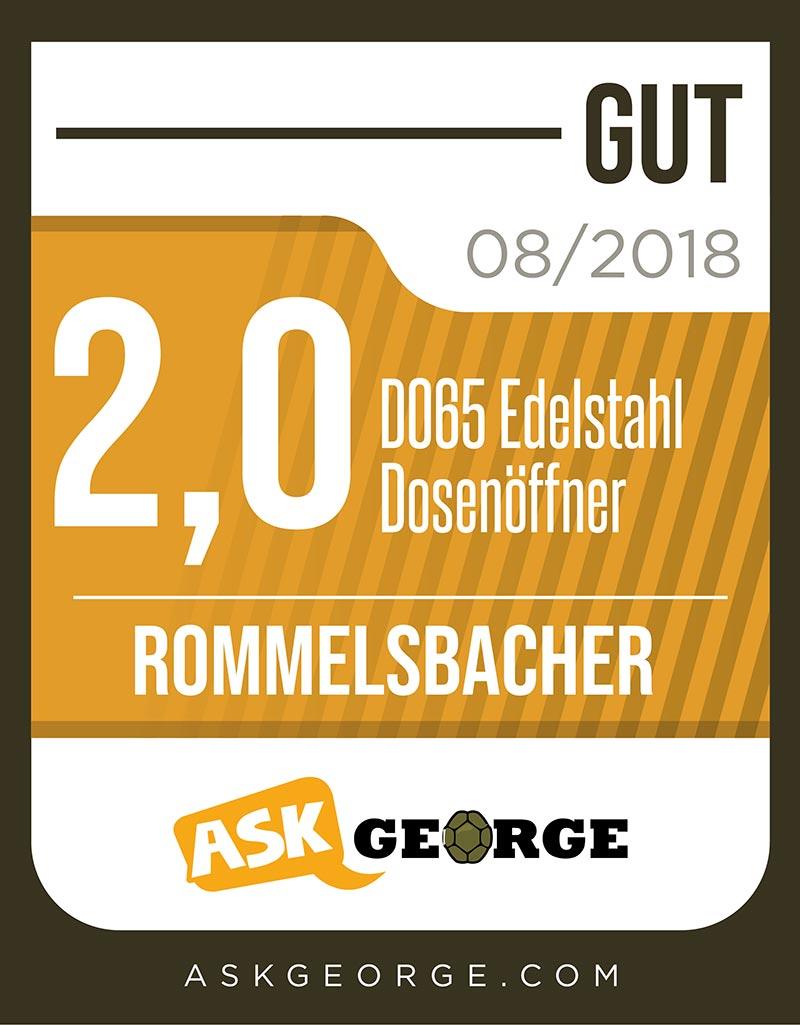 Rommelsbacher DO 65 Dosenöffner 230 V 60 W Edelstahl