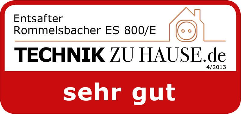 ENTSAFTER ES 800E ROMMELSBACHER ElektroHausgeräte GmbH
