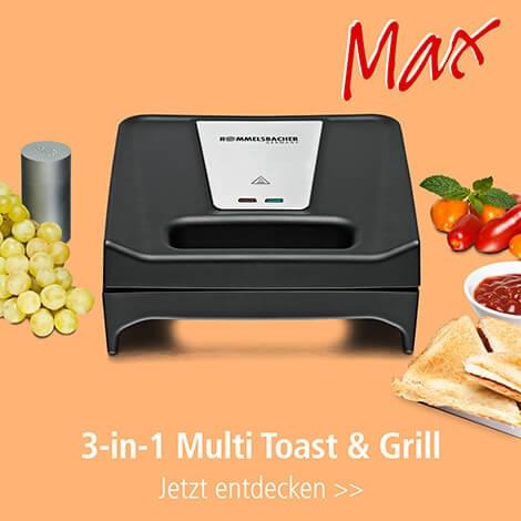 Rommelsbacher-SWG-700-Multi-Toast-Grill-Elektrogrill-Kontaktgrill-Waffeleisen