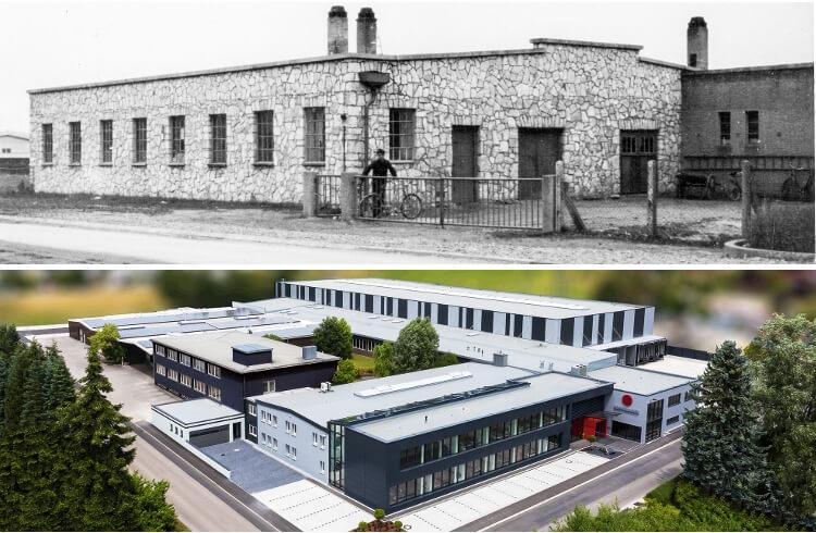 Rommelsbacher-Unternehmensgebäude-früher und heute